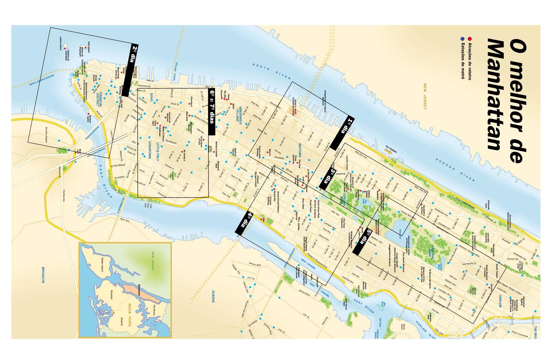 Mapa De Nova York Viagem Decaonline Dicas De Viagem