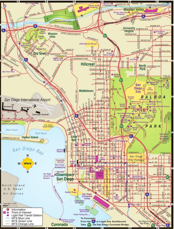 google mapa san diego c: