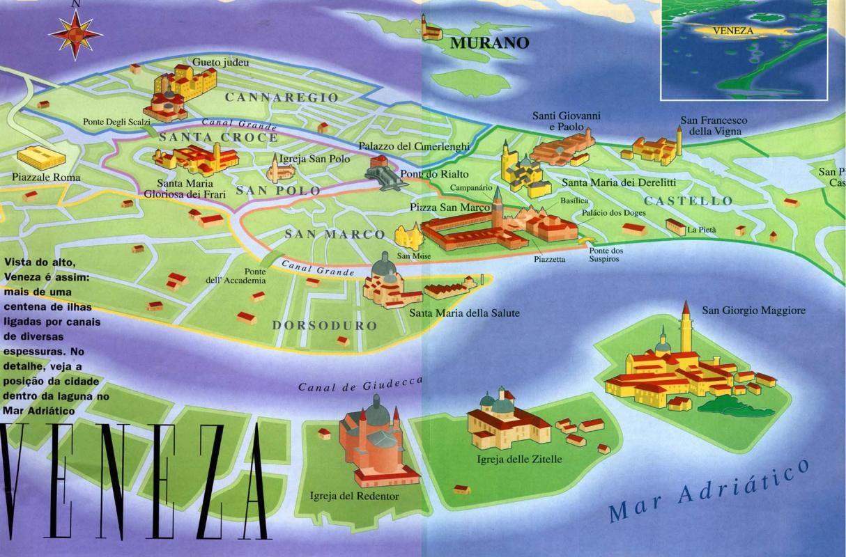 veneza revista%20viagem mapa Veneza... encantada.